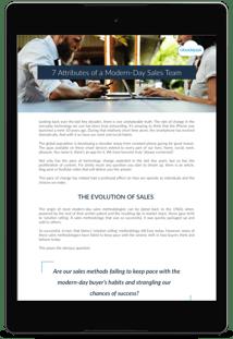 7 attributes of modern sales team