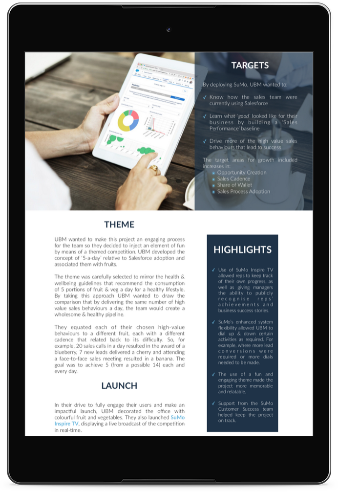 Sales Activity_UBM Case Study